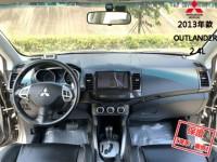 Mitsubishi  Outlander 【頂級天窗、換檔快撥片、WIFI安卓機!】2013年款 三菱 OUTLANDER | 新北市汽車商業同業公會|TACA優良車商聯盟|中古、二手車買車賣車公會認證保固